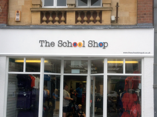 Evesham School Shop Signage